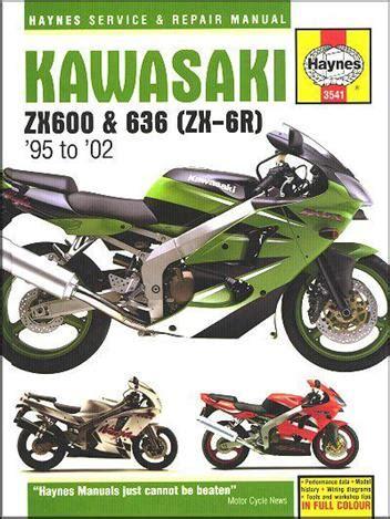 Kawasaki Zx6r Zx600 1995 2002 Workshop Repair Service Manual