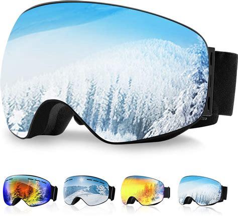 Kd Esqui Snowboard Gafas De Nieve Para Hombres Mujeres Anti Niebla Uv Proteccion Esferica De Doble Lente De Diseno