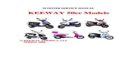 Keeway 50cc 2t Service Manual