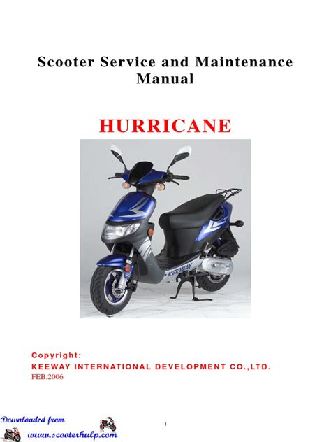 Keeway Scooter Service Manual