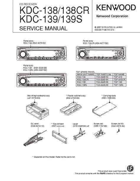 Kenwood Cd Receiver Kdc 138 Manual