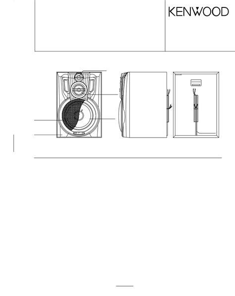 Kenwood Ls N30s Ls N30s H Speaker System Repair Manual