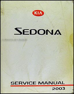 Kia Sedona Repair Manual 2003
