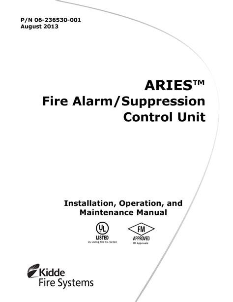 Kidde Aries Operation Manual