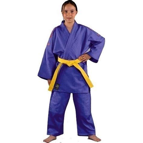 Kimono Judo Danrho Grain De Riz 350gr M Yamanashi Bleu