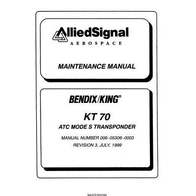 King Kt 70 Manual