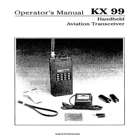 King Kx 99 Manual