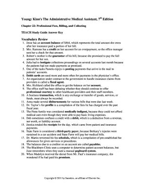 Kinns Medical Assistant Study Guide Answers Chapter 41