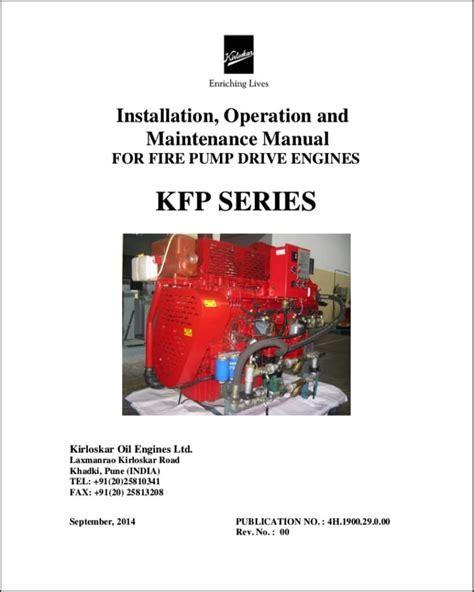 Kirloskar Diesel Engine Repair Manual