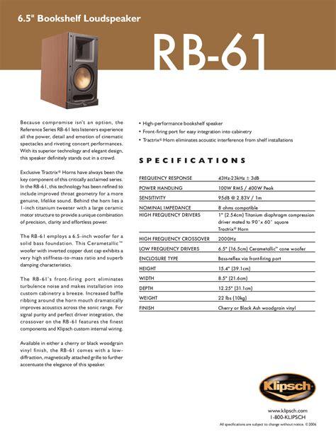 Klipsch Speakers Manual