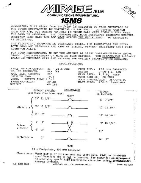Klm Antenna Manual