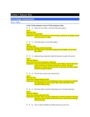 Knowledge Assessment Lesson 9 Excel Answer Key