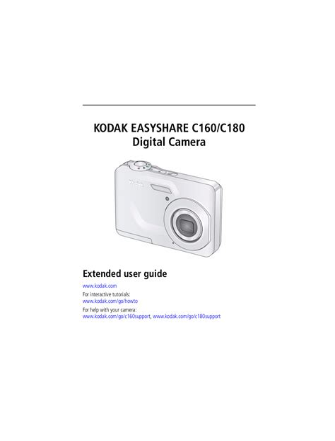Kodak C160 Manual