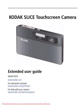 Kodak Slice Camera Manual