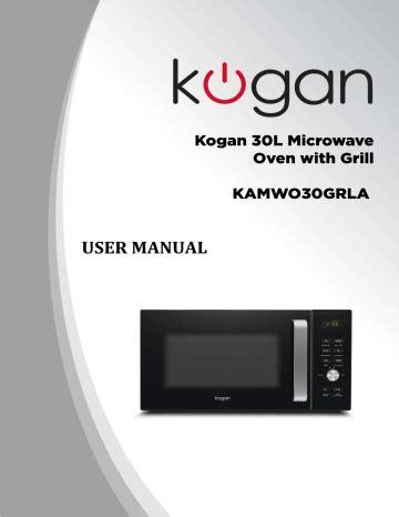Kogan Microwave User Manual