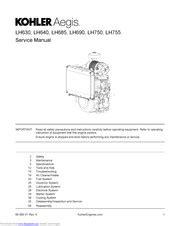Kohler Aegis Lh750 Factory Service Work Shop Manual