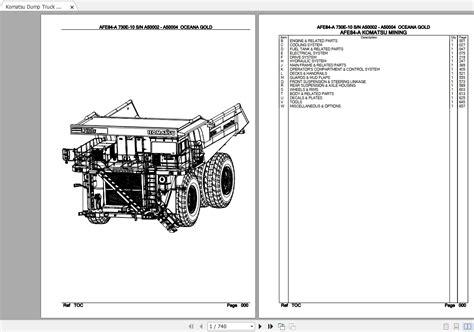 Komatsu 730e Dump Truck Service Manual