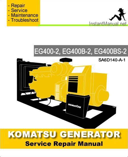 Komatsu Eg400bs 2 Engine Generator Service Repair Manual
