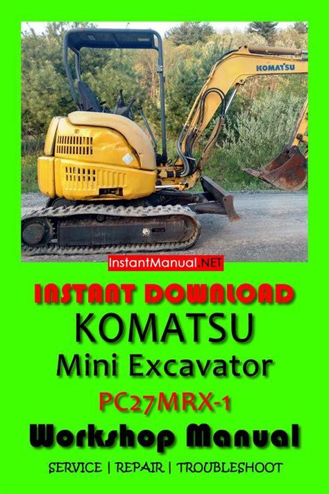 Komatsu Pc27mrx 1 Operation And Maintenance Manual