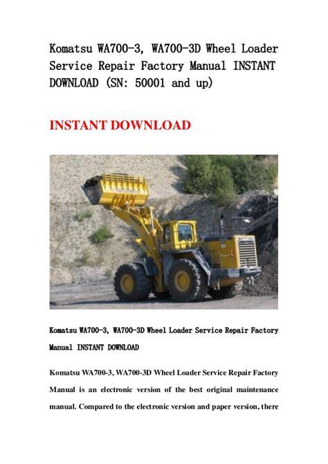 Komatsu Wa700 3 Manual