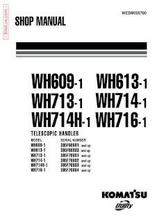 Komatsu Wh Series Telescopic Handler Workshop Shop Manual