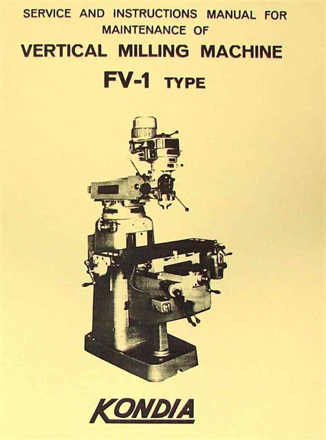 Kondia Milling Machine Manual