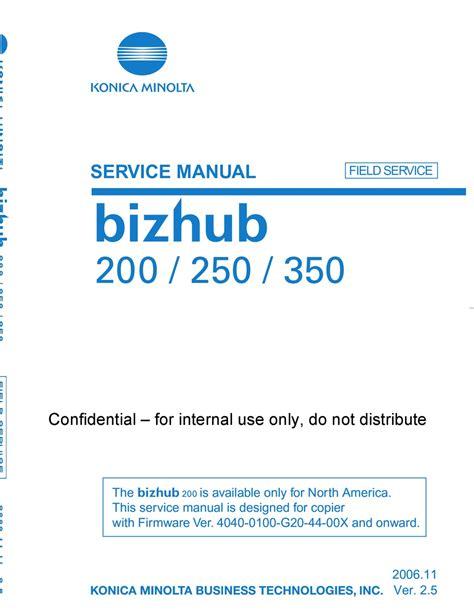 Konica Bizhub 200 Manual