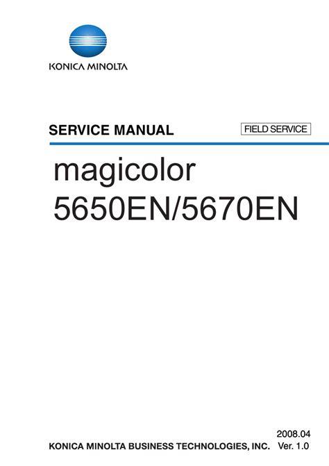 Konica Minolta Magicolor 5650en 5670en Field Service Manual