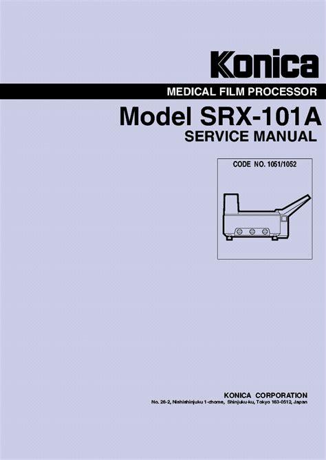 Konica Srx 201 Service Manual