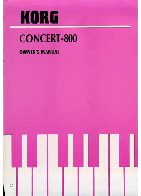 Korg Concert 800 600 Service Manual