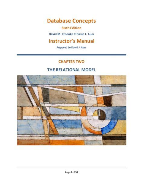 Kroenke Database Concepts 6 E Instructor Manual