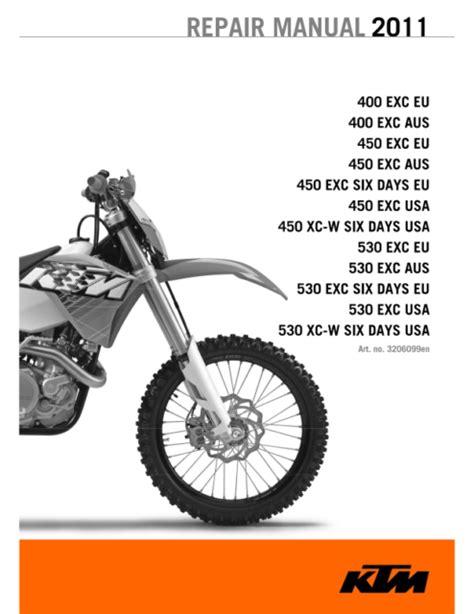 Ktm 400 Exc Xc W 2008 2011 Workshop Service Repair Manual