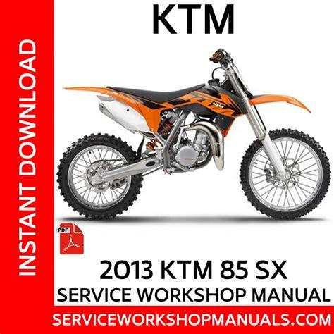 Ktm 85 Sx Rebuild Manual 2015