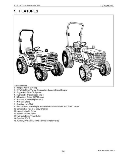 Kubota B2110 Tractor Workshop Repair Service Manual