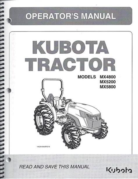 Kubota B5100de B6100de B7100de Operators Manual