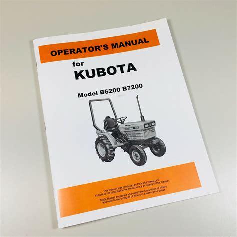Kubota B7200 Owners Manual