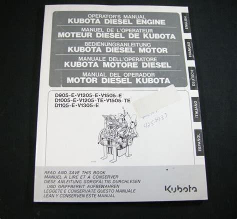 Kubota D905e Manual