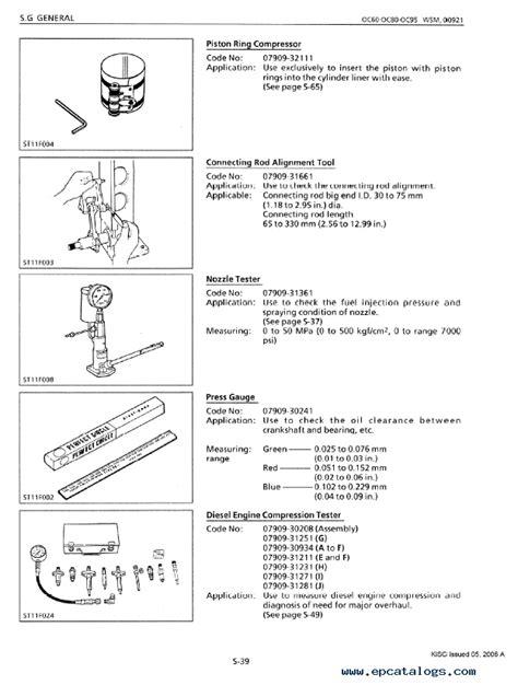 Kubota Diesel Engines Oc60 Oc95 Workshop Manual