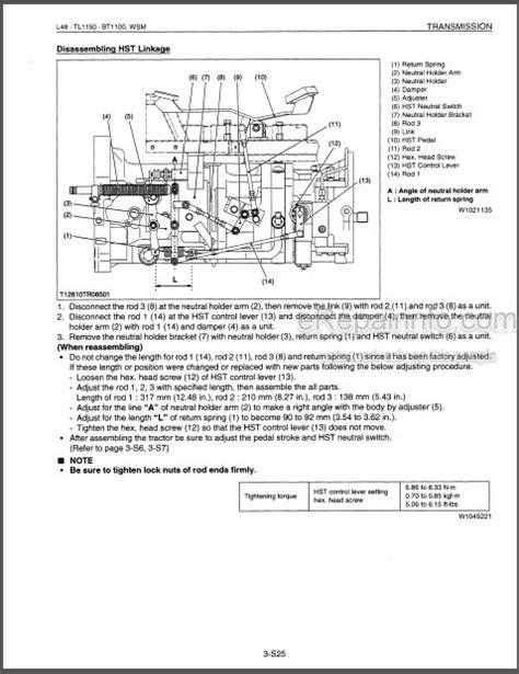 Kubota L48 Shop Manual