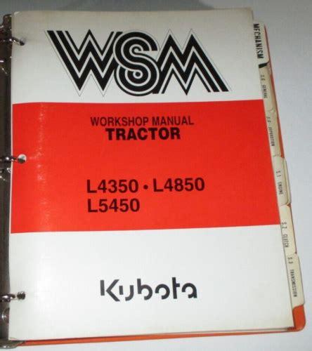 Kubota L5450 Tractor Factory Service Repair Manual