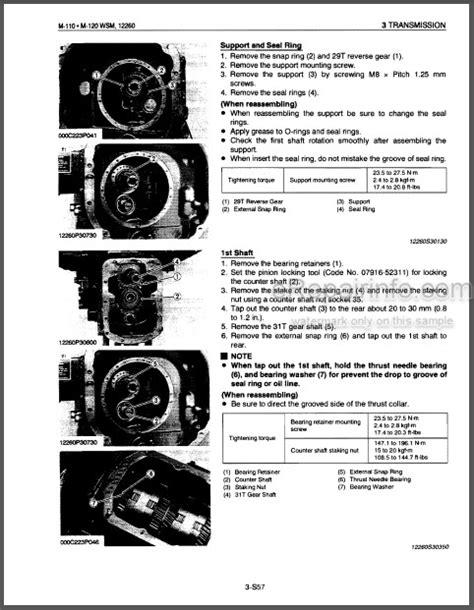 Kubota M110 Tractor Manual