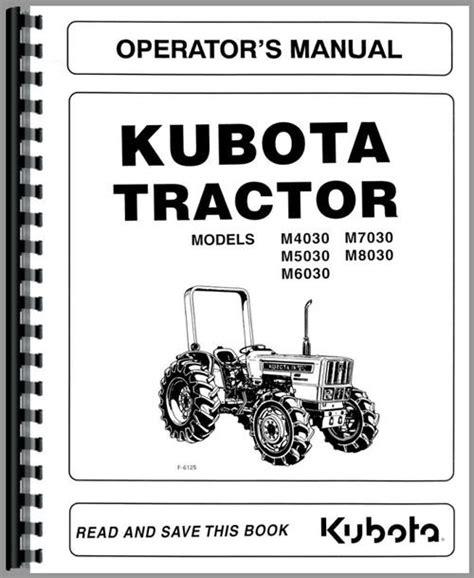 Kubota M5030 Tractor Manual