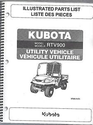 Kubota Rtv 900 Illustrated Parts Manual