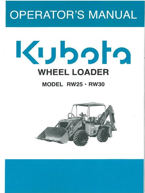 Kubota Rw30 Manual