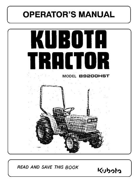Kubota Tractor Operations Manualervice Manual Motocycle Scopy