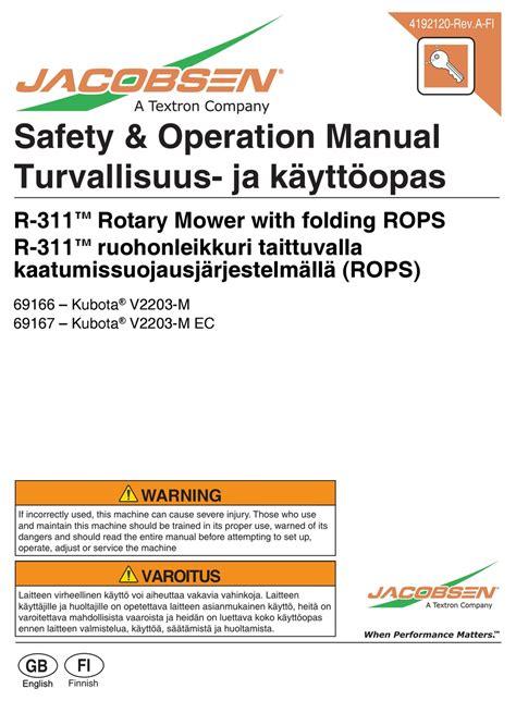 Kubota V2203 Manual