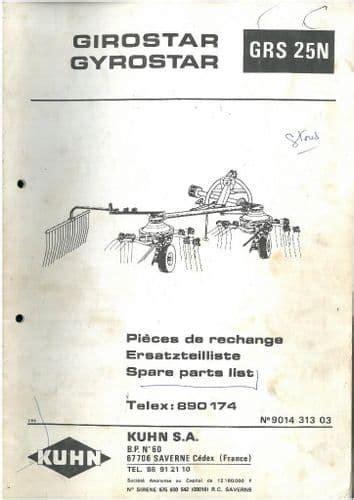 Kuhn Grs25n Tedder Manual