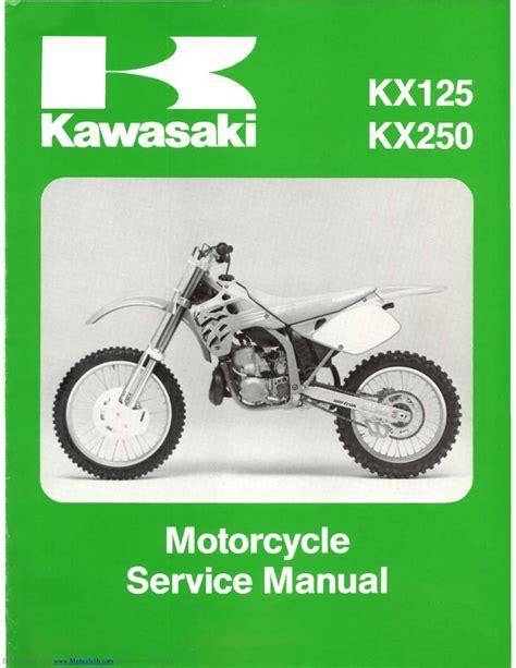 Kx 250 Workshop Manual