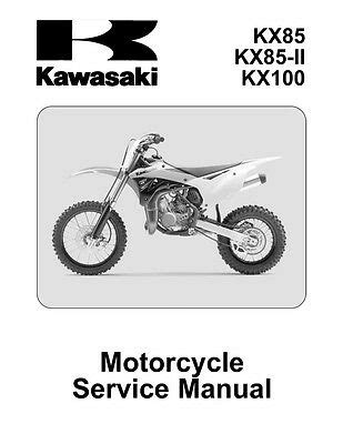 Kx 85 Owners Manual