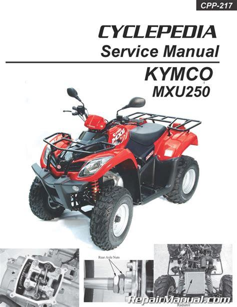 Kymco Mxu 250 2000 Repair Service Manual